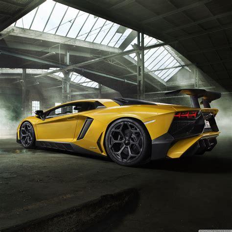 Yellow Lamborghini Aventador Sports Car 4k Hd Desktop