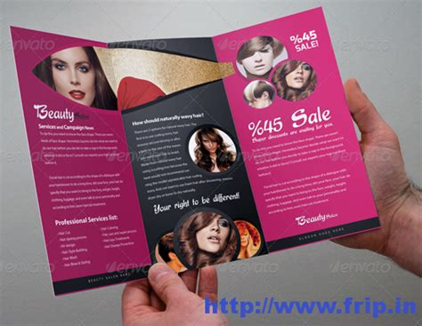 Salon Brochure Templates Free by 50 Best Spa Fitness Hair Salon Brochure Template Frip In