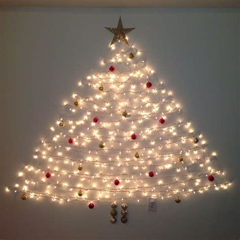 wall christmas tree command hooks and lights my done