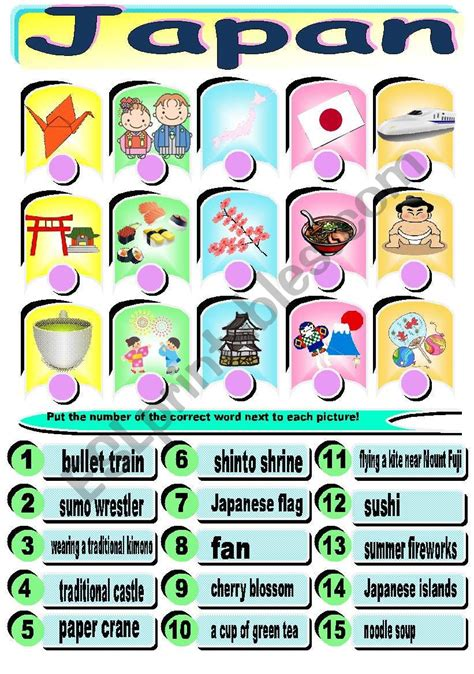english worksheets japan worksheet combine words and