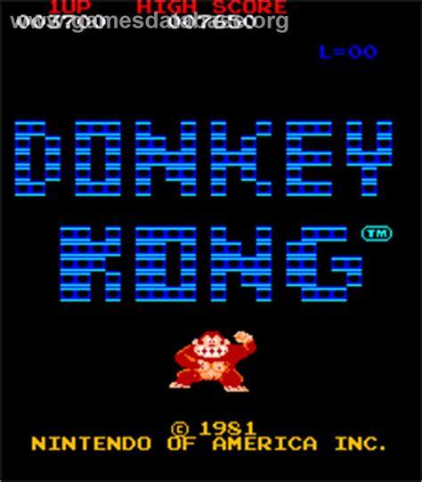 Donkey Kong Arcade Games Database