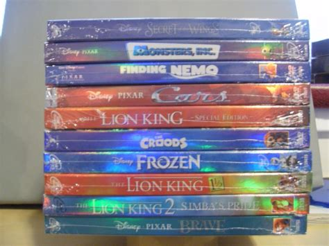10 Disney Dvd Lot- Cars,finding Nemo,frozen,brave,loin