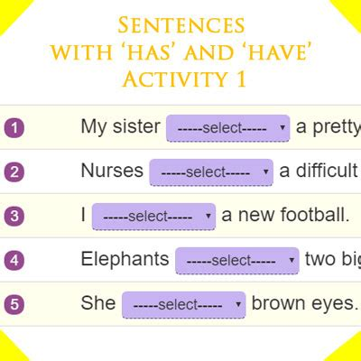 sentences     activity  st grade english