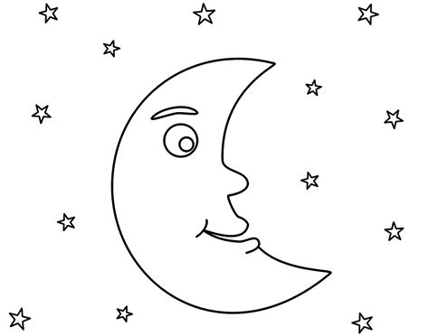 moon coloring pages for preschool coloringstar 498 | Moon coloring pages and stars