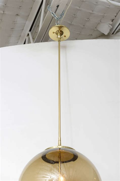 60 s brass globe pendant light at 1stdibs