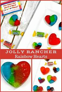Homemade Jolly Rancher Rainbow Hearts - Perfect for ...