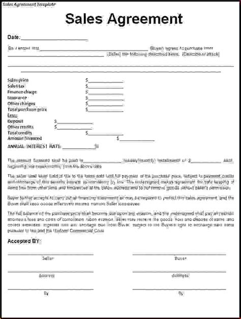 sample rental agreement letter 4 sample sales contractreport template document report
