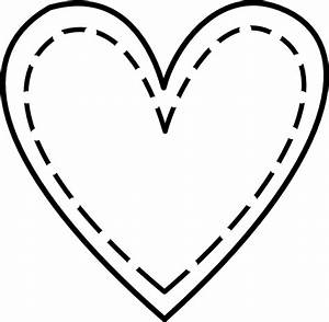 Double Heart Outline Clip Art at Clker.com - vector clip ...