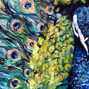 HUGE Peacock Oil Painting – The beginning… | KATY JADE DOBSON