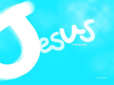 Jesus On The Cross Wallpaper Jesus Is My Strength Christian Illustrations Crossmap Christian Backgrounds And Christian