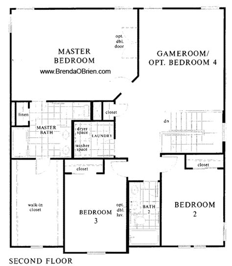 upstairs floor plans st at vistoso 2301 model upstairs