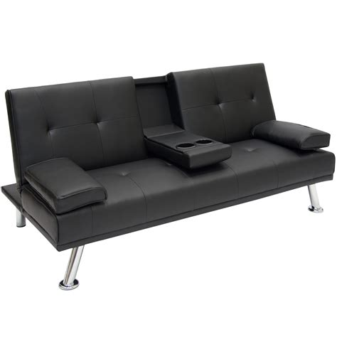 futon bed settee new deluxe futon sofa bed cup holders sfwf sfbf as