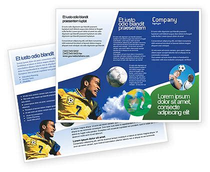 Sports C Brochure Template by In Soccer Brochure Template Design And Layout