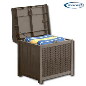 suncast ssw1200 resin wicker storage seat deck box