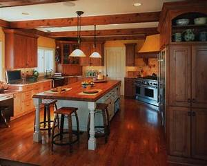 country rustic kitchens peenmediacom With simple and cozy country kitchen designs