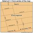 Covington Indiana Street Map 1815490