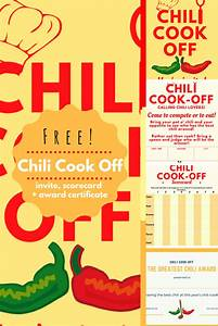 Chili Cook Off Certificate Template Chili Cook Off Insider Another Free Invite Scorecard