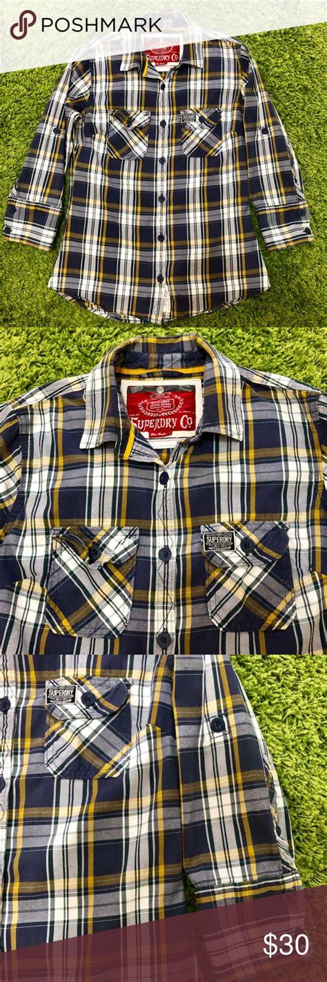 SuperDry Plaid button shirt size Medium | Plaid button ...