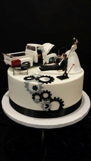 mechanics grooms cake  cakes pinterest groom cake