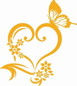 Herz Mit Blumen : wandtattoo wandaufkleber wanddeko f r schlafzimmer herz blumen schmetterling ebay ~ Frokenaadalensverden.com Haus und Dekorationen
