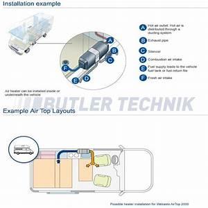 Motorhome Rv Webasto Air Top 2000 Stc Heater Camper Kit