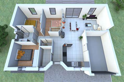 plan de maison 100m2 3 chambres une maison de plain pied avec 3 chambres vous fait rêver