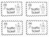 Play Dramatic Police Station Printable Preschool Ticket Tickets Classroom Speeding Pretend Traffic Template Parking Children Train Role Centers Center Things sketch template