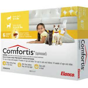 comfortis for cats comfortis for cats 2 4 lbs dogs 3 3 4 9 lbs 12 month