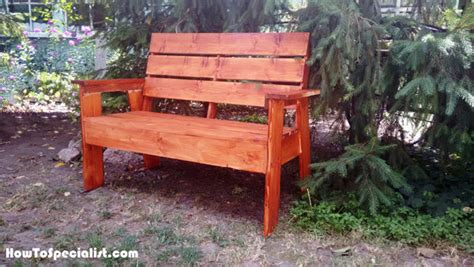how to build a 2x4 garden bench howtospecialist how to