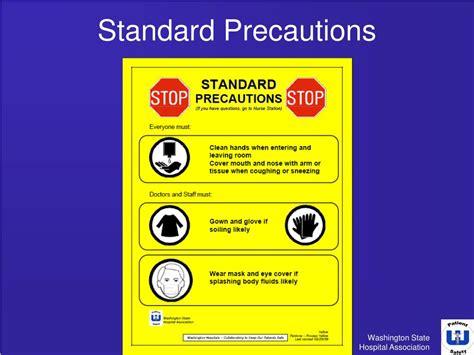 Ppt Isolation Precaution Signage In Washington State