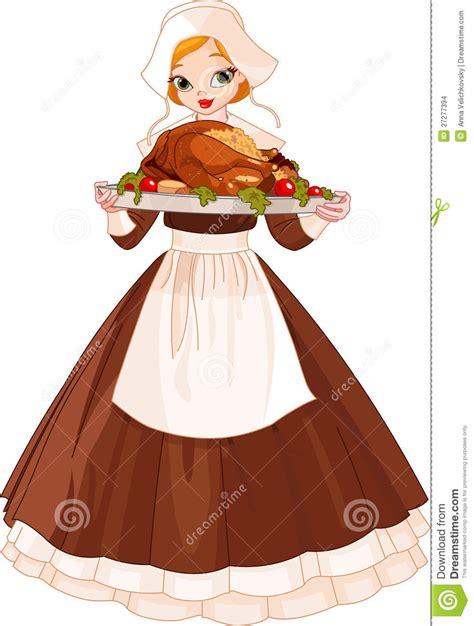 pilgrim girl  plate stock images image