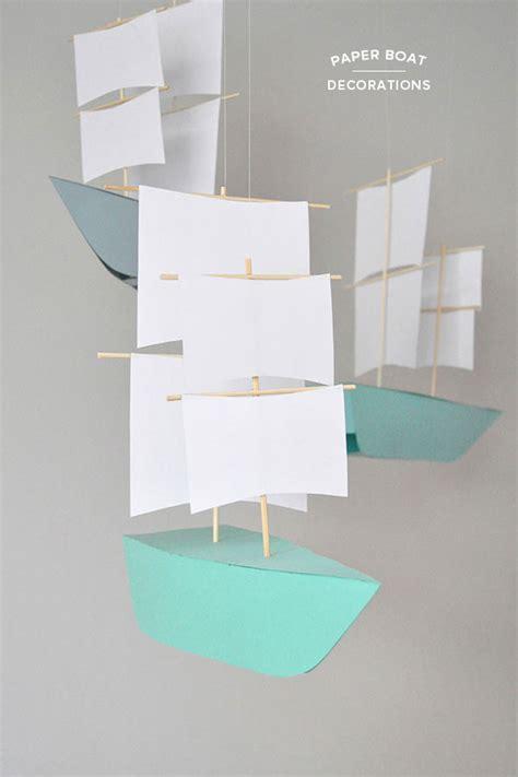 Origami Boat Decoration diy paper boat decorations