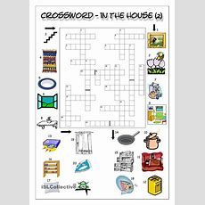 Crossword  In The House (2)  English Learning For Kids  Crossword, House 2, Learn English