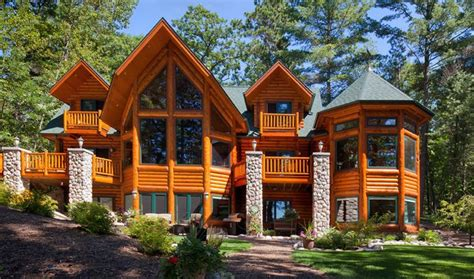 58 best log home exteriors images on log homes