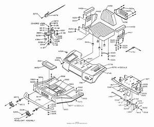Dixon Ztr 4422  1994  Parts Diagram For Body Assembly