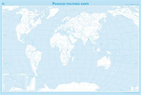 Maps - Wall maps - Pasaules politiskā karte (divpusēja)