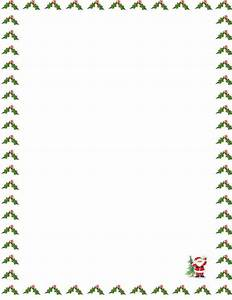 Santa claus letter for Letter paper with borders
