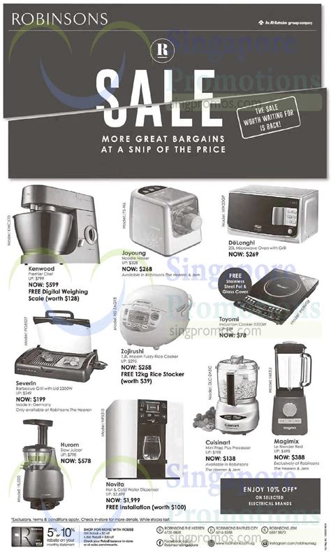 Robinsons 6 Feb 2015 » Robinsons Kitchen Appliances Offers