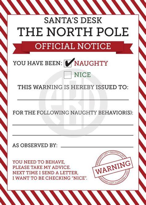 naughty nice notices  christmas elf