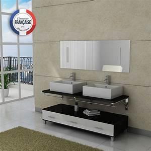 meuble salle de bain noir et blanc maison design With meuble salle de bain blanc et noir