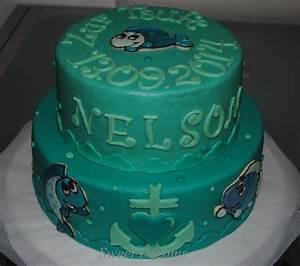 Kuchen Zur Taufe : sweet dreams baptism cake sweet dreams kuchen zur taufe fische torte blau gr n essen kochen ~ Frokenaadalensverden.com Haus und Dekorationen