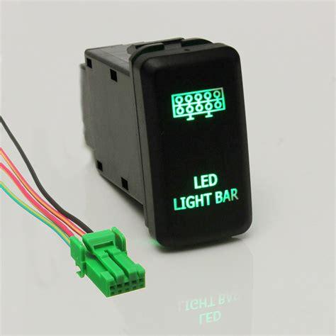 led light switch 12v led fog work light push button switch for toyota