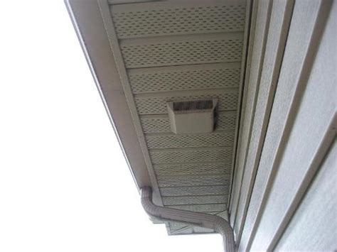soffit vent for bathroom fan how to install a bathroom fan vent in the soffit 5 easy
