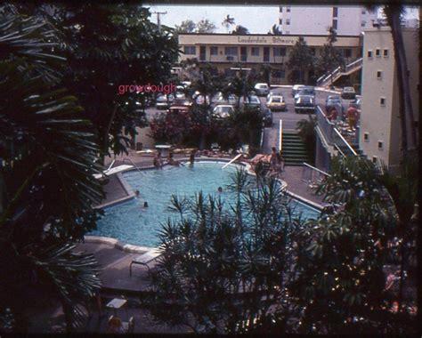color slide color slide lauderdale biltmore hotel pool 1970s 30x30mm