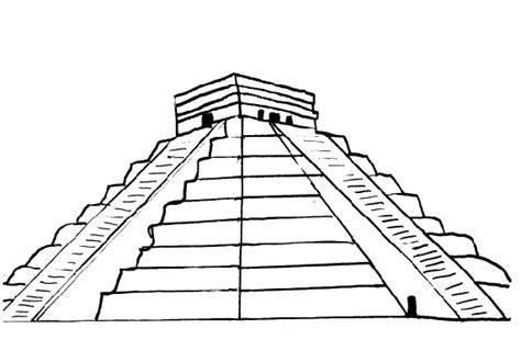 Drawn Pyramid Aztec Pyramid