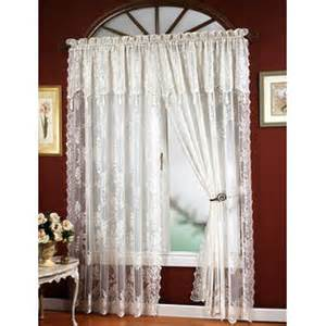 Austrian Net Curtains by Shower Curtain With Attached Valance From Sears Com