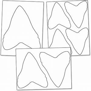 printable shark tooth printable treatscom With shark teeth template