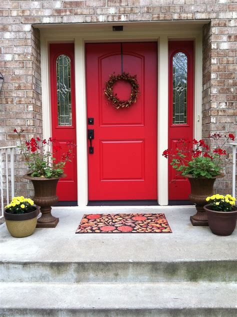 red front door sherwin williams heartthrob the new