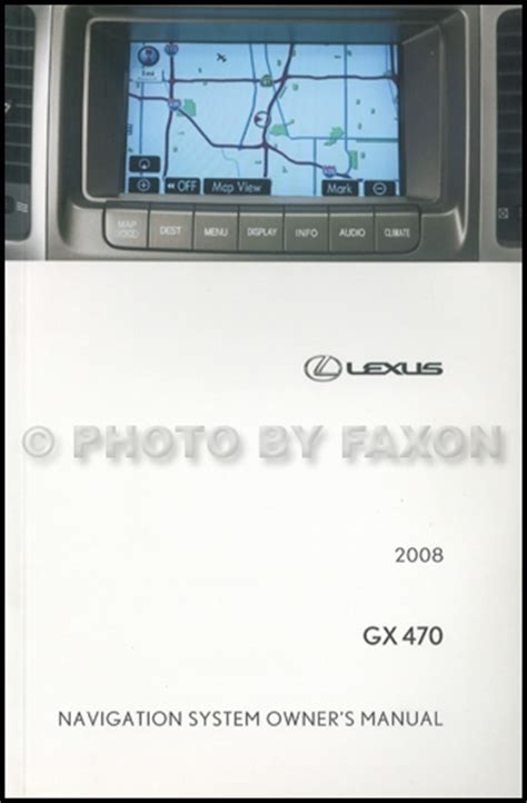 automotive service manuals 1999 lexus es navigation system 2008 lexus gx 470 navigation system owners manual original