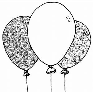 Balloons Clip Art Black And White - Cliparts.co